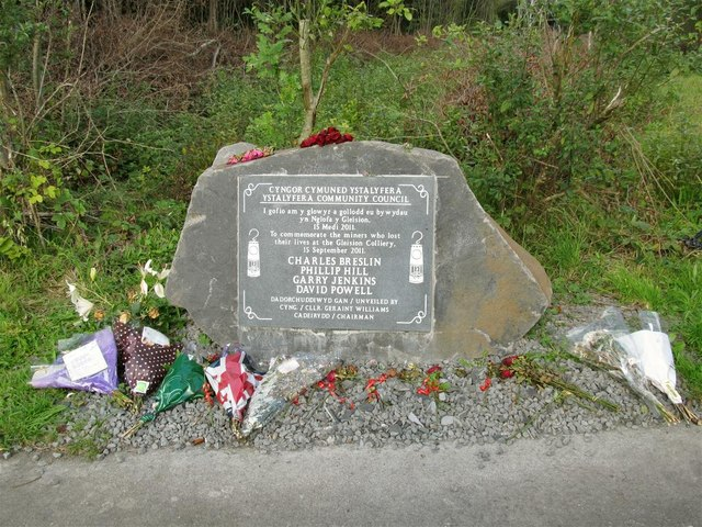 Memorial to Gleision Mine Disaster
