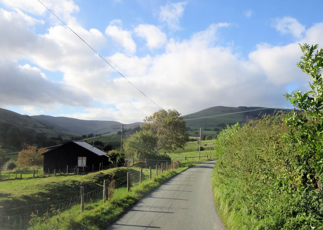 Cabin in Afon Iwrch's upper valley