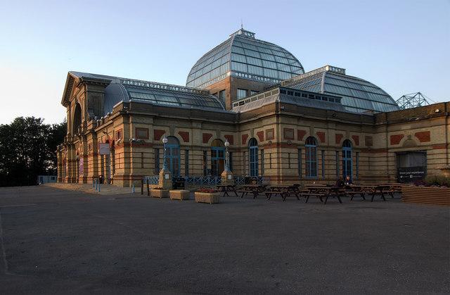 Alexandra Palace: Palm Court entrance