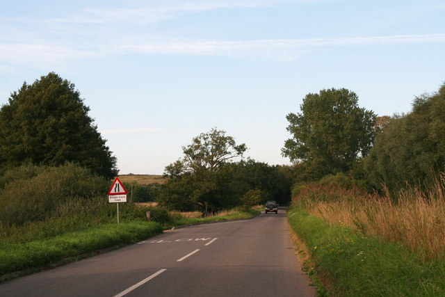Wormegay Road: single track road