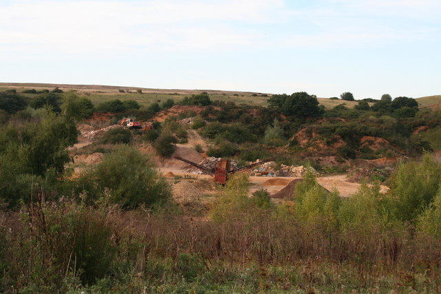 Carstone pits at Blackborough