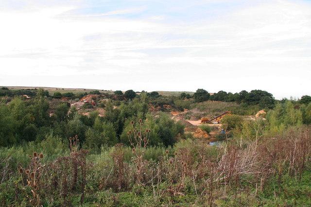 Carrstone pits at Blackborough