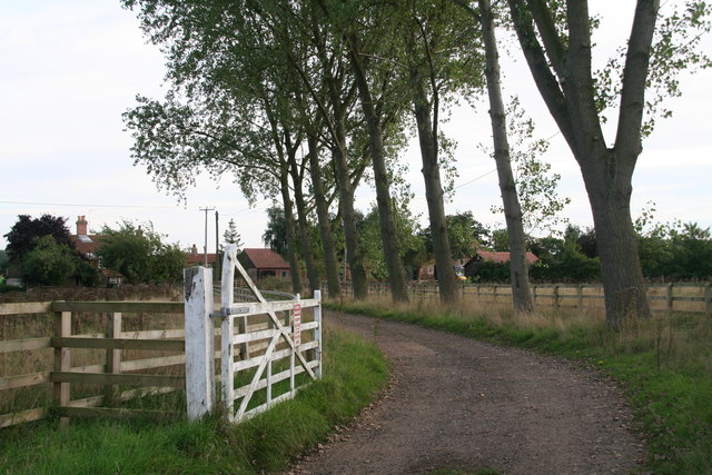 The track to Lower Farm