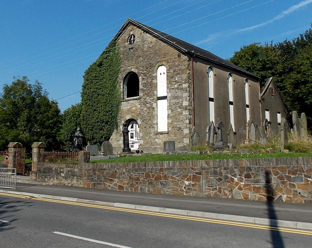 Derelict former Bethel chapel viewed from the east, Gowerton