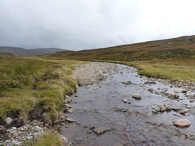 Looking up the Feshie Water