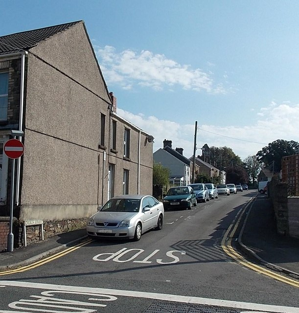 Western end of Church Street Gowerton