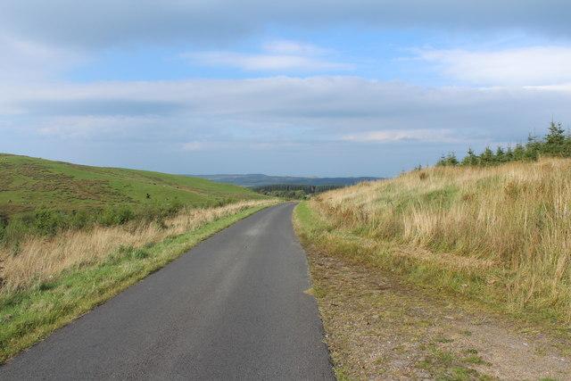Road to Crosshill near Drumyork Hill