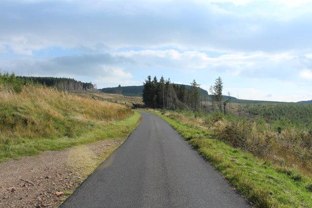 Road to Glentrool near Drumyork Hill