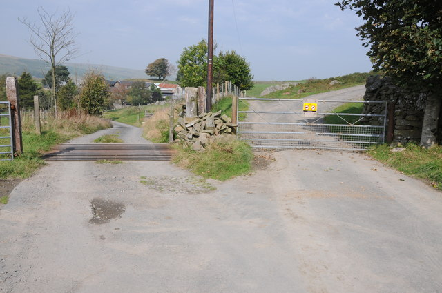 Entrance to the farm near Llyn Mawr