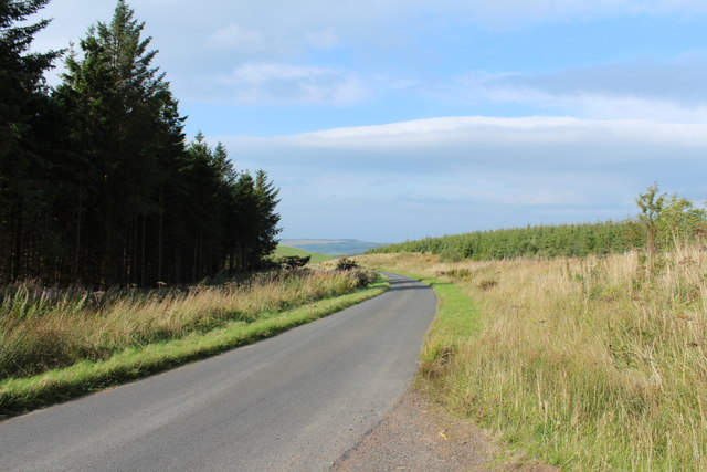 Road to Crosshill near Craigens