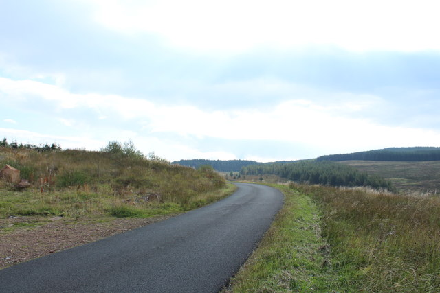 Road to Glentrool near Clauchrie Hill