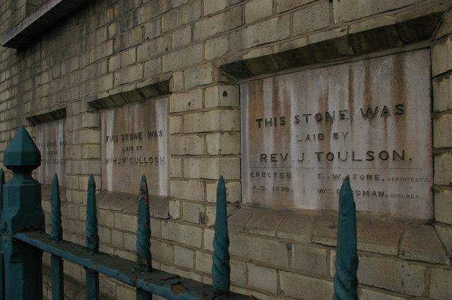 Foundation stones, Caledonian Road Methodist Church
