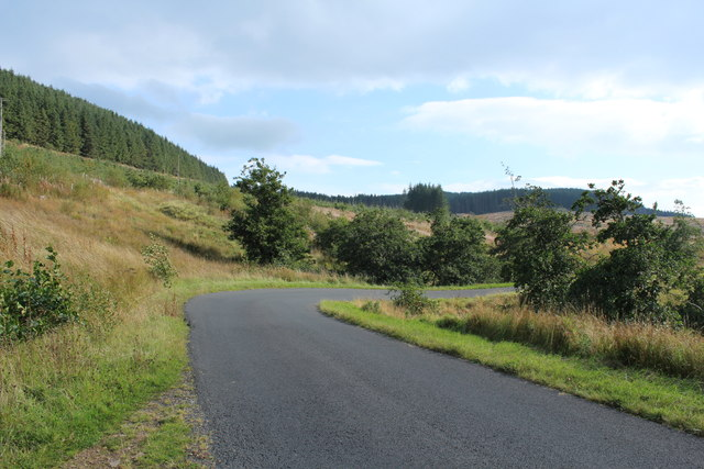 Road to Glentrool at the Diel's Elbow