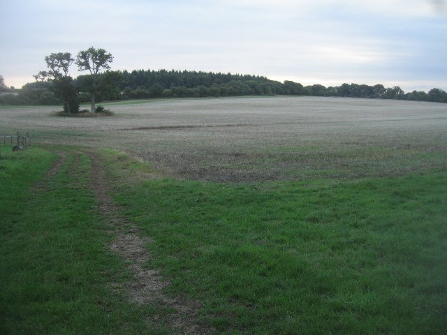 Fields west of village cricket ground