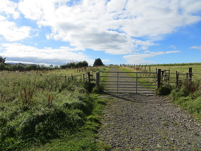 Track by Threipmuir Reservoir