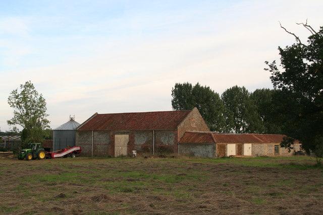 Farm buildings by the bridleway near Fen Farm