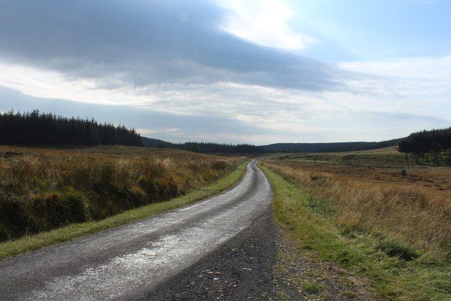 Road to Glentrool near Knockinculloch
