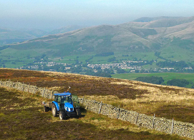 A tractor on the fell
