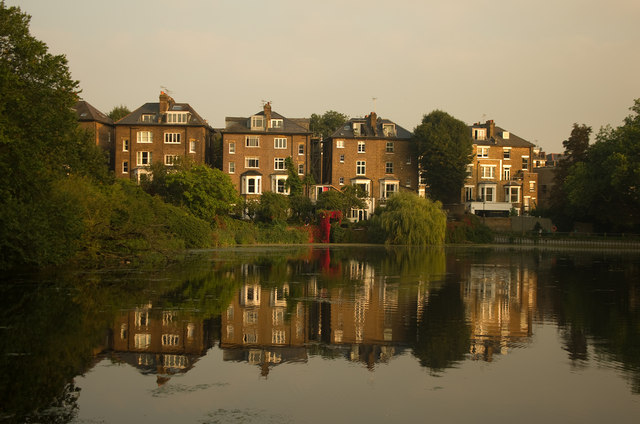 South Hill Park from Hampstead Ponds
