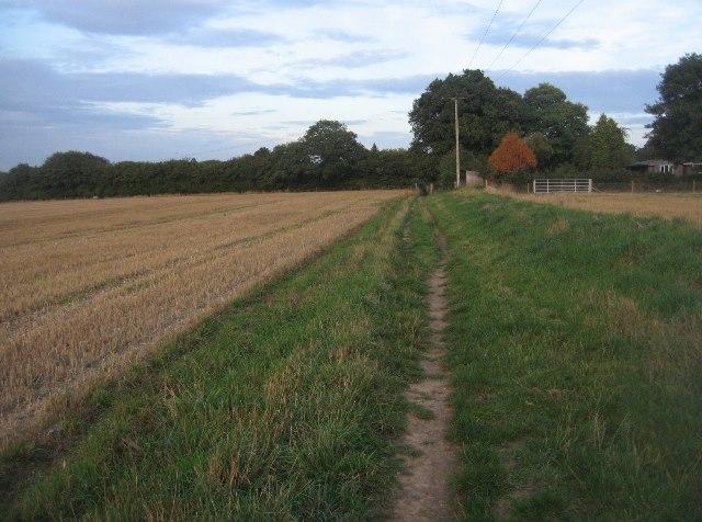 Footpath to Pardown