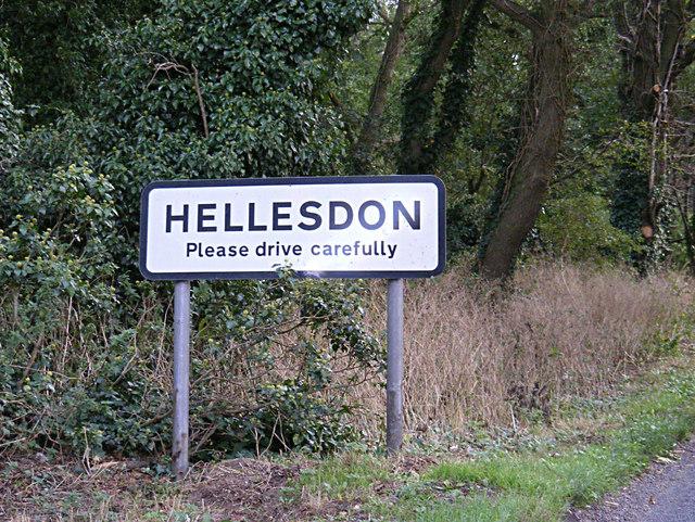 Hellesdon Village Name sign