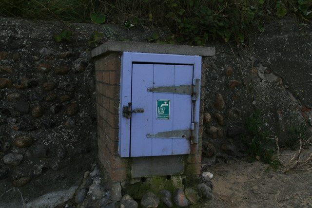 Drinking water tap next to the beach footpath