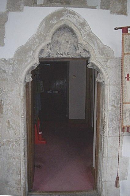 Vestry doorway, Lanchester All Saints