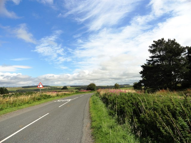 Looking east along the B6306