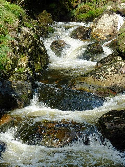 Afon Irfon west of Bryn Du, Powys