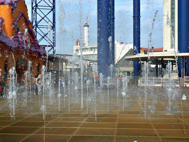 Fountains at the Pleasure Beach, Blackpool