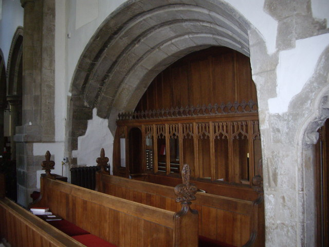 The widened chancel  of All Saints