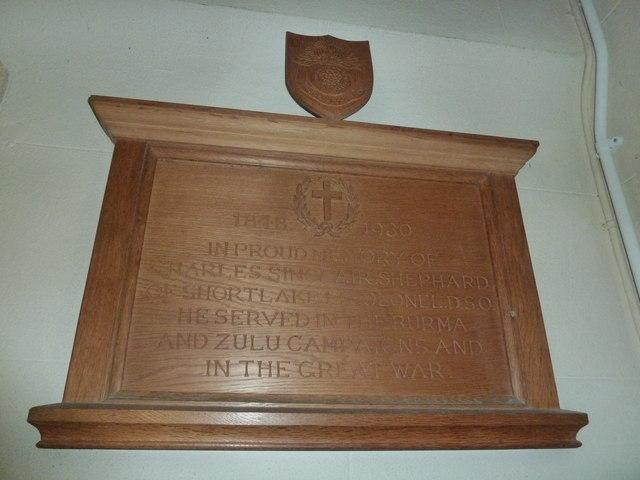 St Osmund, Osmington: memorial (g)