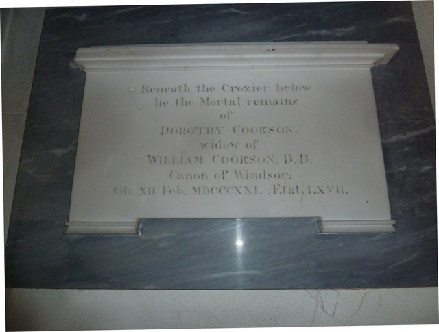 St Osmund, Osmington: memorial (h)