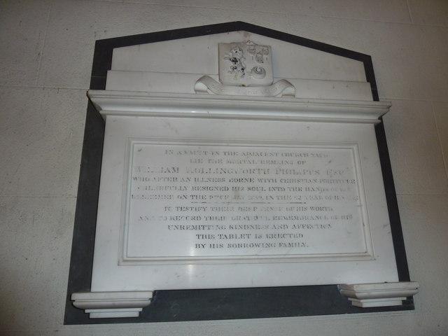 St Osmund, Osmington: memorial (l)