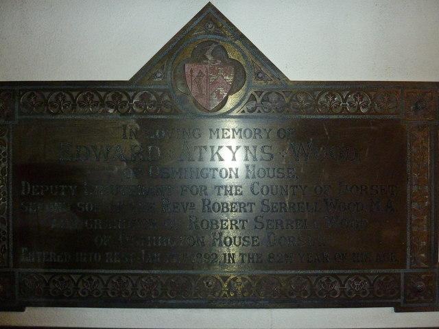 St Osmund, Osmington: memorial (q)