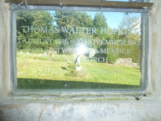 St Osmund, Osmington: memorial (r)