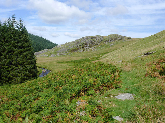 Cwm Irfon north of the Devil's Staircase, Powys