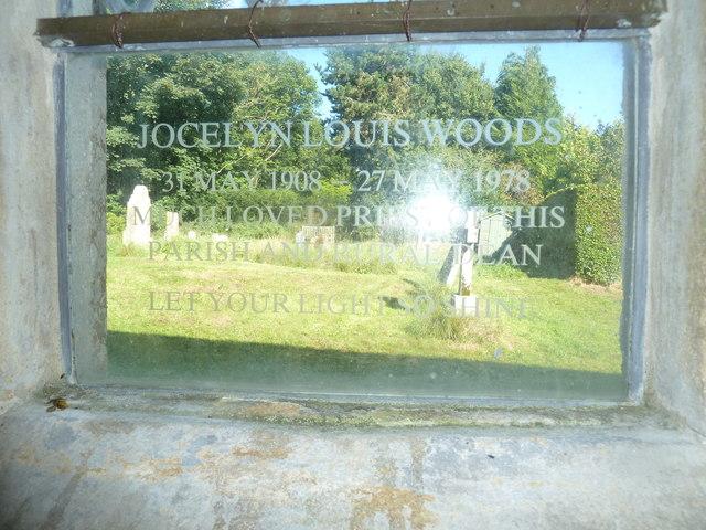 St Osmund, Osmington: memorial (w)