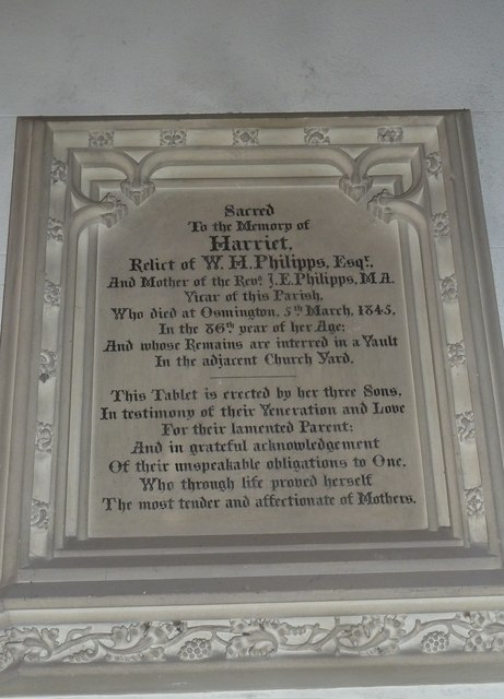 St Osmund, Osmington: memorial (x)