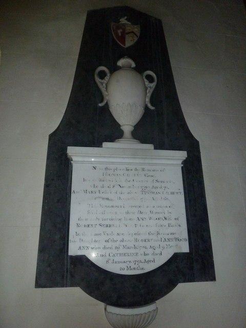 St Osmund, Osmington: memorial (u)