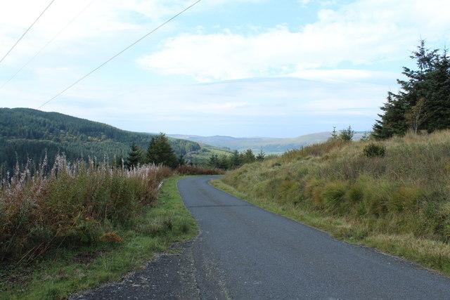 Road to Crosshill at Shiel Bridge
