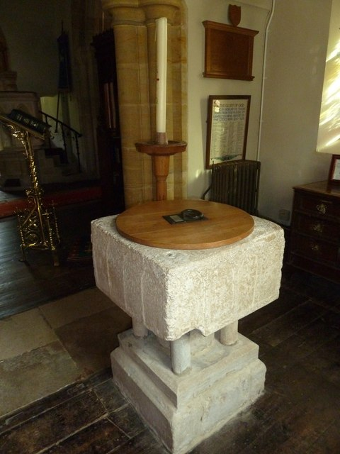 St Osmund, Osmington: font