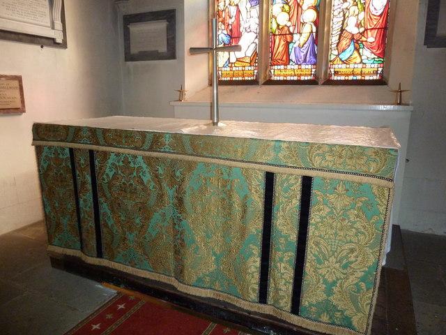 St Osmund, Osmington: altar