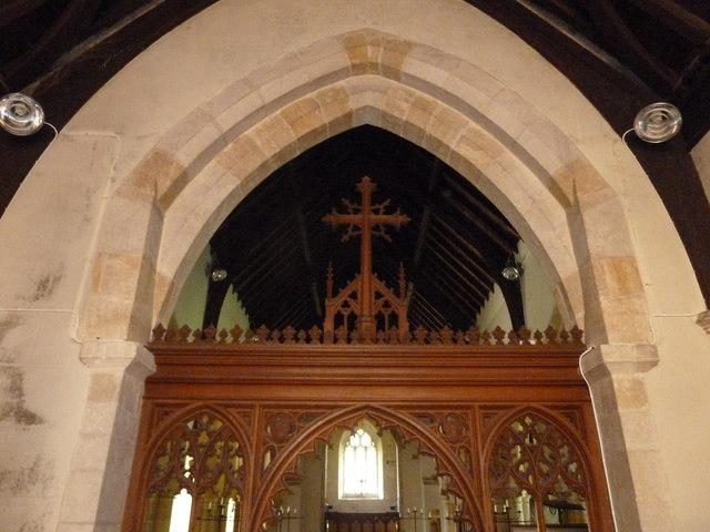 St Osmund, Osmington: rood screen