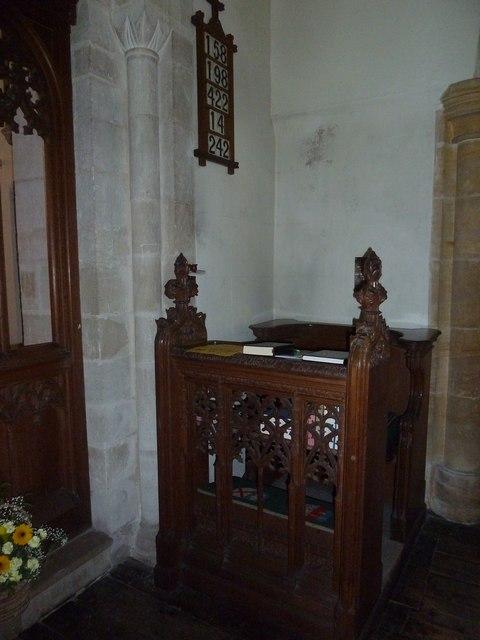St Osmund, Osmington: prayer desk