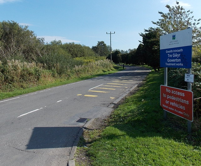Access road to Gowerton Treatment Works