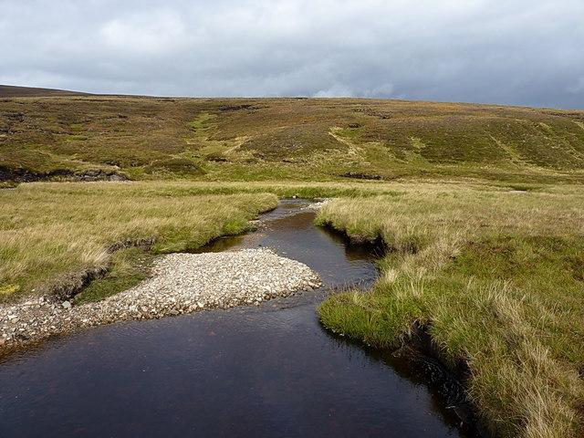 Feshie Water and surrounding hillside