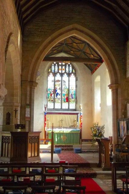 Interior of St John the Baptist's Church