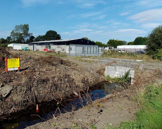 Roadside drainage channel in Kingsbridge