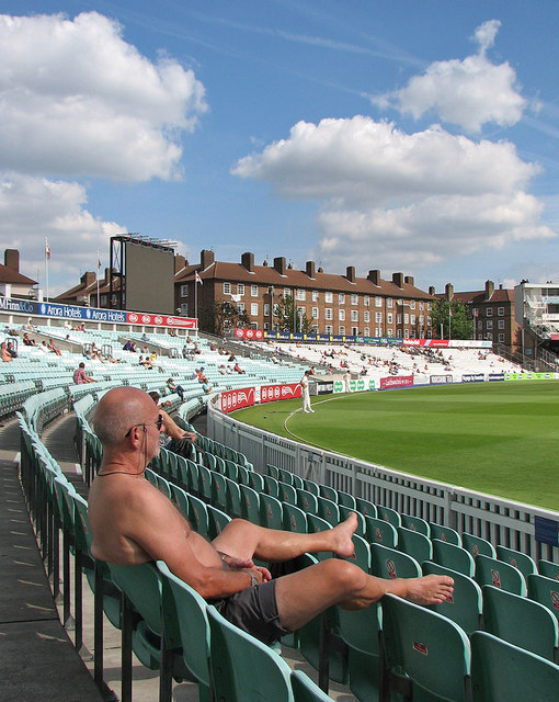 Watching cricket at The Oval